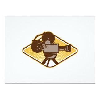 Vintage Movie Film Camera Retro 6.5x8.75 Paper Invitation Card