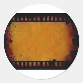 vintage movie film stripe classic round sticker