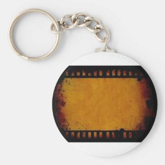 vintage movie film stripe keychain