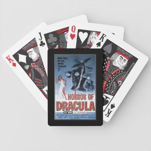 Vintage movie horror - playing cards