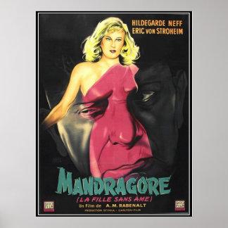 Vintage movie horror - poster