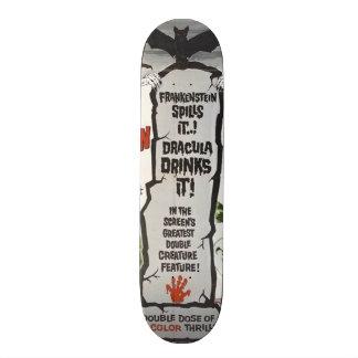 Vintage movie horror - skateboard