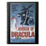 Vintage movie horror - spiral note book