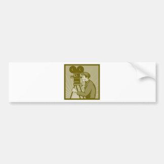 Vintage movie or television film camera director car bumper sticker