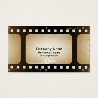 Vintage Movie Photographer Film Strip Film Role Business Card