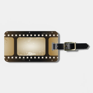 Vintage Movie Photographer Film Strip Film Role Luggage Tag