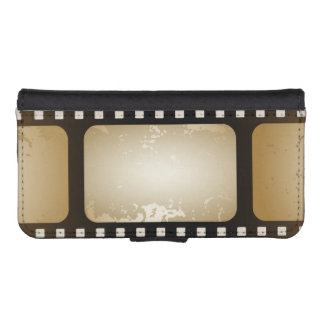 Vintage Movie Photographer Film Strip Film Role Wallet Phone Case For iPhone SE/5/5s
