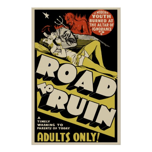 """Vintage Movie Poster Art - """"Road To Ruin"""""""
