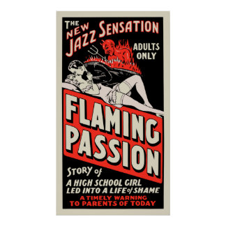 "Vintage Movie Poster - ""Flaming Passion"""