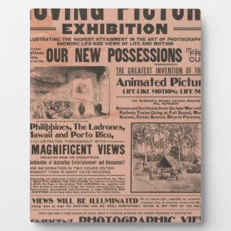 Vintage Movie Poster Plaque
