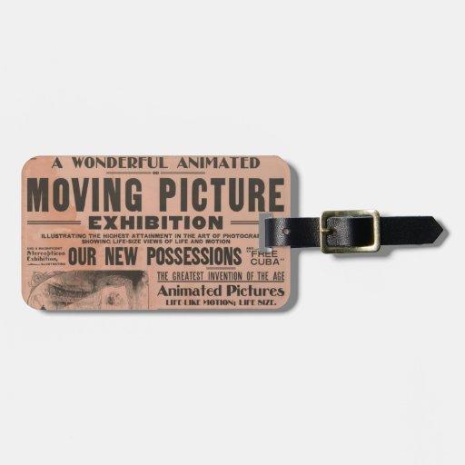 Vintage Movie Poster Travel Bag Tag