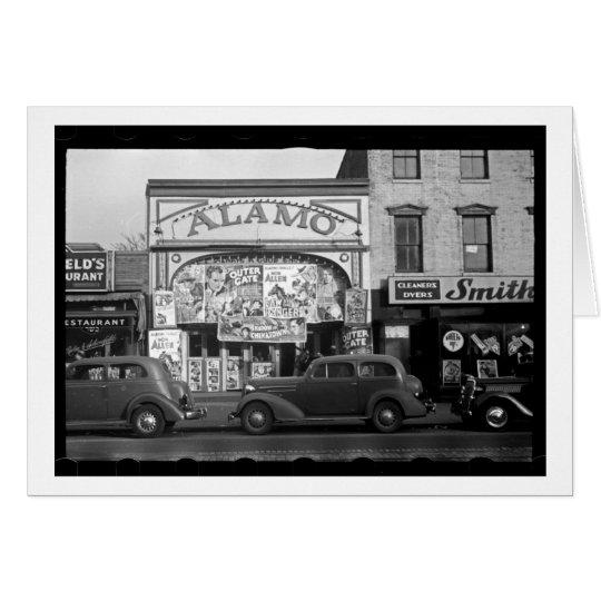Vintage Movie Theater Card