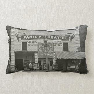 Vintage Movie Theater Family Cinema Lumbar Pillow