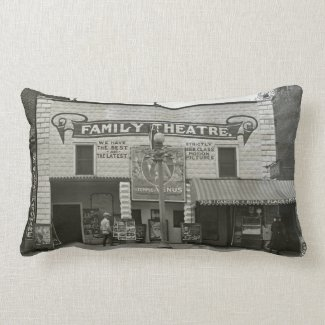 Vintage Movie Theater Family Cinema Pillows