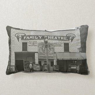 Vintage Movie Theater Family Cinema Pillows