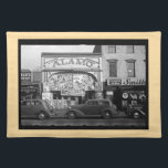 """Vintage Movie Theater Placemat (tan border)<br><div class=""""desc"""">Alamo Movie Theater,  Washington DC.1930s. Photograph by Farm Security Administration. Library of Congress,  Prints &amp; Photographs Division.</div>"""