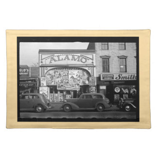 Vintage Movie Theater Placemat (tan border)