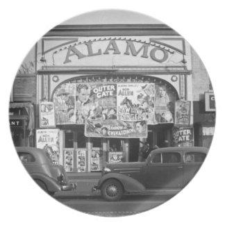 Vintage Movie Theater Plate