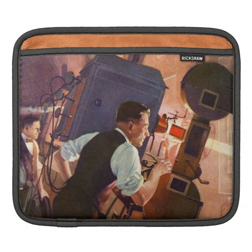 Vintage Movie Theater Projectionist Film Camera Sleeves For iPads