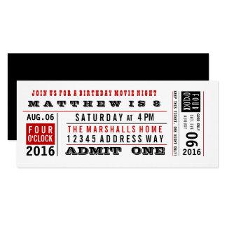 Movie Ticket Invitations & Announcements | Zazzle