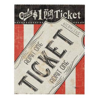 Vintage Movie Ticket Panel Wall Art