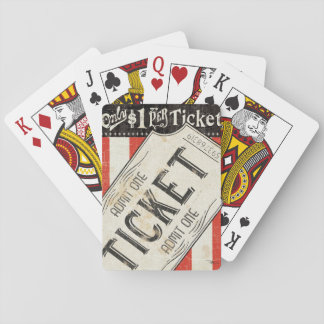 Vintage Movie Ticket Playing Cards