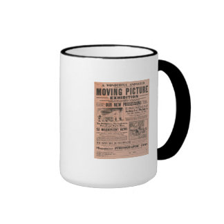 Vintage Moving Picture Exhibition Coffee Mug