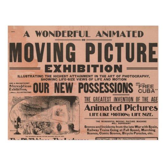 Vintage Moving Picture Exhibition Postcard