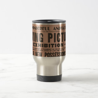 Vintage Moving Picture Exhibition Travel Mug