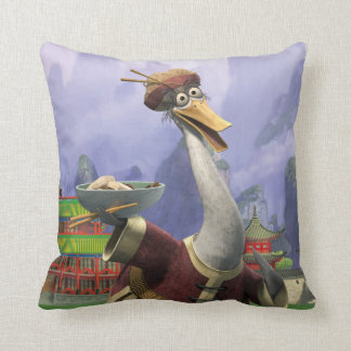 Vintage Mr. Ping Throw Pillow