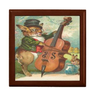 Vintage, Mr. Rabbit Playing Musical Instrument Jewelry Box