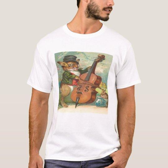 Vintage, Mr. Rabbit Playing Musical Instrument T-Shirt