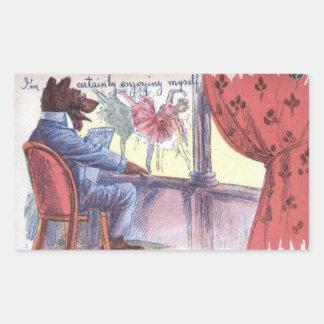 Vintage Mr Woof Rectangular Sticker