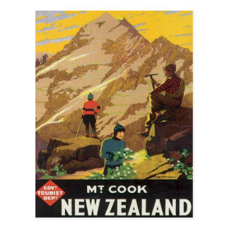 Vintage Mt.Cook New Zealand Postcard