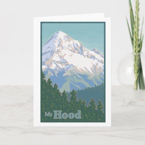 Vintage Mt. Hood Greeting Card