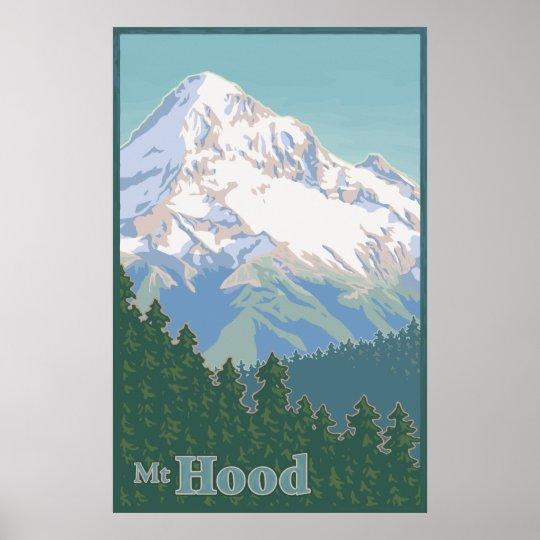 Vintage Mt. Hood Travel Poster