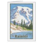 Vintage Mt. Rainier Greeting Card