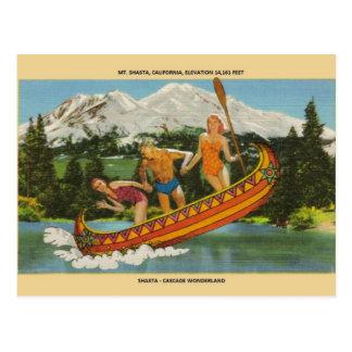 Vintage Mt. Shasta Cascade Wonderland Post Card