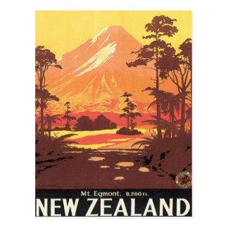 Vintage Mt.Taranaki Mt.Egmont New Zealand Postcard