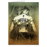 Vintage Muay Thai Fighter Greeting Cards