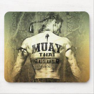 Vintage Muay Thai Fighter Mousepad