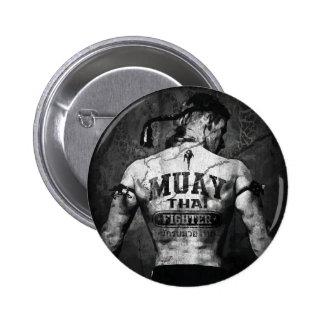 Vintage Muay Thai Fighter Pinback Button