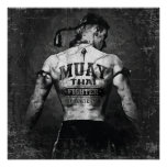 Vintage Muay Thai Fighter Poster