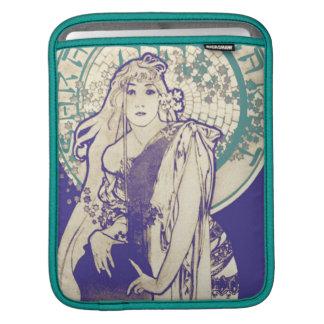 Vintage Mucha Art Nouveau Theater Woman Bernhardt iPad Sleeve