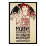 Vintage Mucha Exhibition Brooklyn Poster Greeting Card