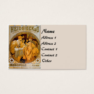 Vintage Mucha Fashion Business Card