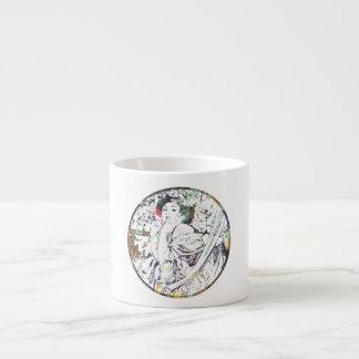 Vintage Mucha Goddess Espresso Cup