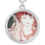 Vintage Mucha Personalized Necklace
