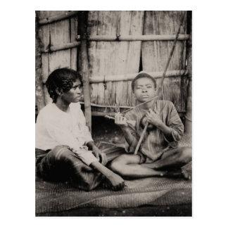 Vintage, muchachos africanos, África subsahariana Tarjeta Postal