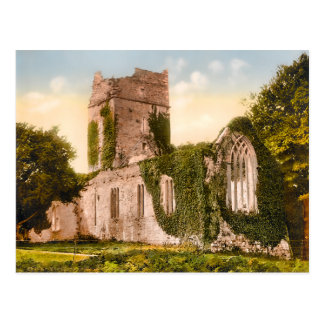 Vintage Muckross Abbey Killarney Ireland Postcard
